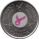 """Kanada 25 Cents 2006 """"Pink Ribbon"""""""