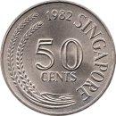 """Singapur 50 Cents 1982 """"Fisch"""""""