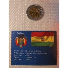 Bolivien 5 Bolivianos 2001