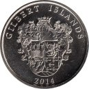 "Gilbert Islands 1 Dollar 2014 ""Pallada"""