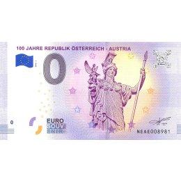 Oesterreich 0-Euro Schein 2018-1 100 JAHRE ÖSTERREICH - AUSTRIA