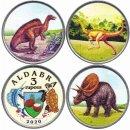 "Aldabra 3 x 3 Rupees 2020 ""Dinos"""