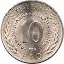 """Jugoslawien 10 Dinara 1976 """"FAO"""""""