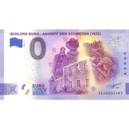 """Deutschland 0-Euro Schein 2020-13 """"SCHLOSS BURG"""" ANNIVERSARY  ZEJG"""