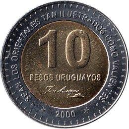 Uruguay 10 Pesos Uruguayo 2000