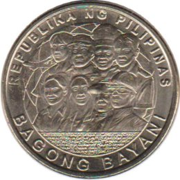 "Philippinen 5 Piso 2014 ""Bagong Bayani coin in honor of Overseas Filipinos"""