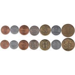 Island 1 Eyrir 2 x 10, 25, 50 Aurar, 2 x 1 Krona
