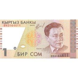 Kirgistan 1 Som 1999