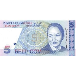 Kirgistan 5 Som 1997