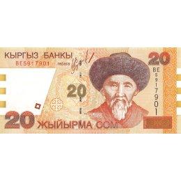 Kirgistan 20 Som 2002