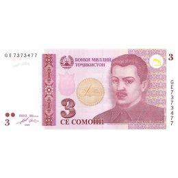Tadschikistan 3 Somoni 2010