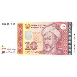 Tadschikistan 10 Somoni 1999 (2013)