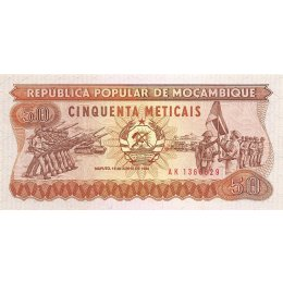 Mosambik 50 Meticais 1986