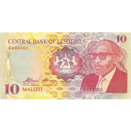 Lesotho 10 Maloti 1990