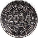 "Simbabwe 50 Cent 2014 ""BOND COIN"" ausgegeben 2015"