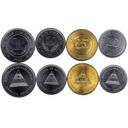 Nicaragua 10, 25, 50 Centavos, 1 Cordoba