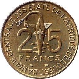 Westafrikanische Staaten 25 Francs 1997
