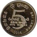 "Sri Lanka 5 Rupees 2014 ""75 years of Bank of..."