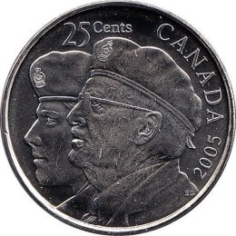 "Kanada 25 Cents 2005 ""Year of the Veteran"""