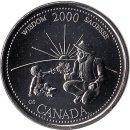 "Kanada 25 Cents 2000 ""Wisdom"""