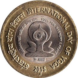"Indien 10 Rupees 2015 ""International Day of Yoga"""