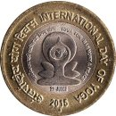 Indien 10 Rupees 2015 International Day of Yoga