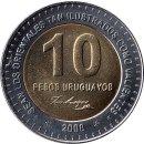 Uruguay 10 Pesos Uruguayo 2000 150th. Anniversary of Artigas death.