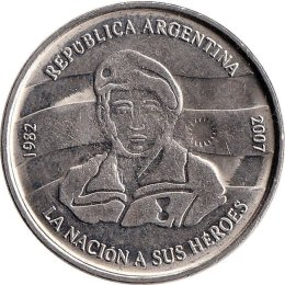 """Argentinien 2 Pesos 2007 """"25th Anniversary of the South Atlantic War"""""""