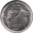 "Argentinien 2 Pesos 2007 ""25th Anniversary of the..."