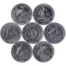 """Burundi 6 x 5 Francs 2014 """"Vogel"""""""