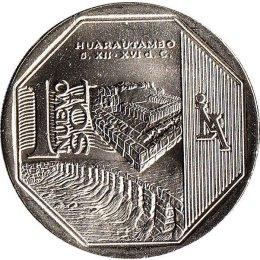 "Peru 1 Nuevo Sol 2015 ""Huarautambo archaeological site"""