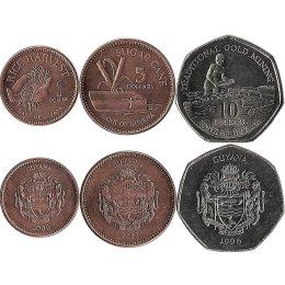 Guyana 1, 5, 10 Dollars