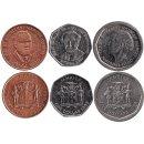 Jamaika 25 Cents, 1 ,5 Dollars