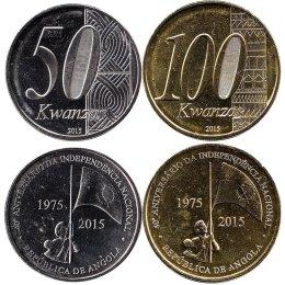 Angola 50, 100 Kwanzas 2015