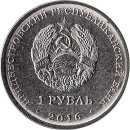 "Transnistrien 1 Rouble 2016  ""55 years of the first..."