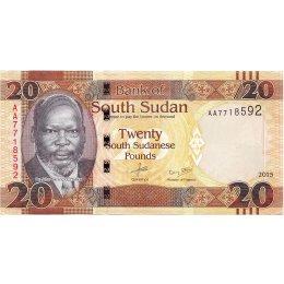 Südsudan 20 Pounds 2015