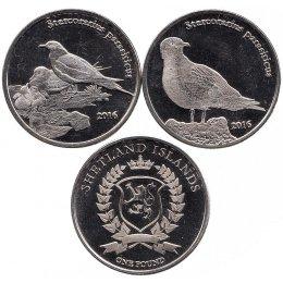 "Shetland Islands 2 x 1 Pound 2016 ""Vogel"""
