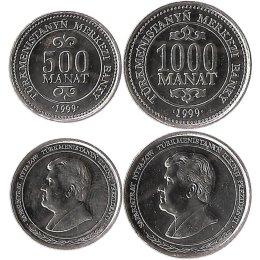 Turkmenistan 500, 1000 Manat 1999