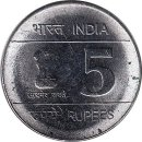 "Indien 5 Rupees 2007 ""Birth Centenary of Shaheed..."