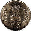 "Indien 5 Rupees 2015 ""Golden Jubilee of 1965 Operations"""