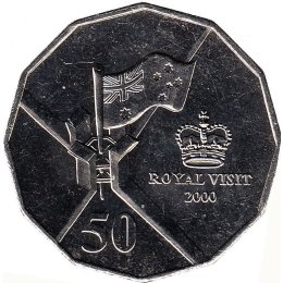 "Australien 50 Cents 2000 ""Royal Visit"""