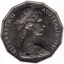 Australien 50 Cents 1981 Wedding of Prince Charles and Lady Diana