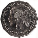 "Australien 50 Cents 1981 ""Wedding of Prince Charles..."