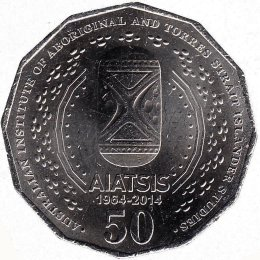 "Australien 50 Cents 2014 ""50th Anniversary of AIATSIS"""