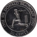 "Australien 20 Cents 2001 ""Sir Donald Bradman"""