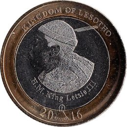 Lesotho 5 Maloti 2016 Golden Jubilee of Independence