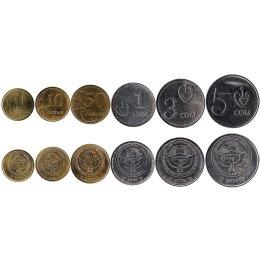 Kirgistan 1, 10, 50 Tyiyn 1, 3, 5 Som 2008