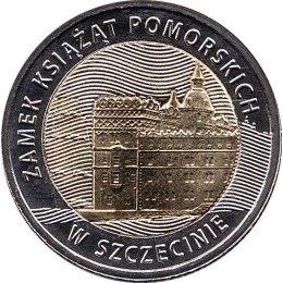 """Polen 5 Zlote 2016 """"Pomeranian Dukes Castle in Szczecin"""""""