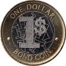 """Simbabwe 1 Dollar 2016 """"BOND COIN"""""""