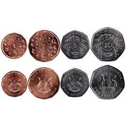 Uganda 1, 2, 5, 10 Shillings 1987